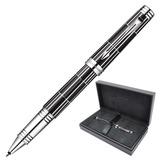 Ручка-роллер PARKER «Premier Luxury Black CT», корпус черный, латунь, никеле-палладиевое покрытие деталей, 1876392, черная