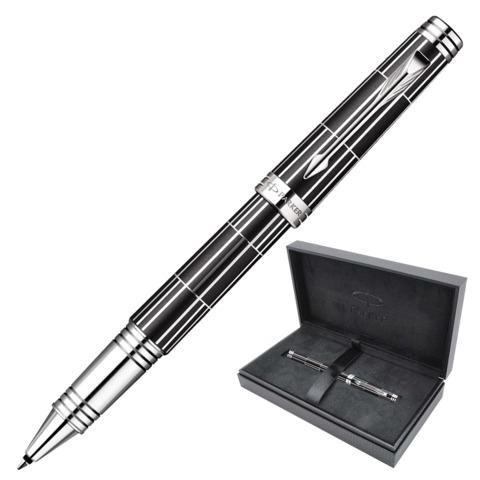 """Ручка-роллер PARKER """"Premier Luxury Black CT"""", корпус черный, латунь, никеле-палладиевое покрытие деталей, черная, 1876392"""