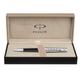 Ручка шариковая PARKER «Premier Custom Tartan ST», корпус латунь, детали — серебро, синяя