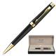 Ручка шариковая PARKER «Premier Deep Black Lacquer GT», корпус латунь, лак, позолоченные детали, синяя