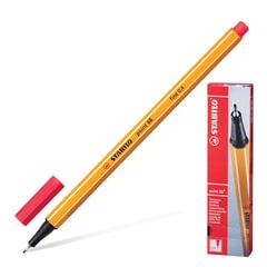 Ручка капиллярная STABILO «Point», корпус оранжевый, толщина письма 0,4 мм, неоновая красная