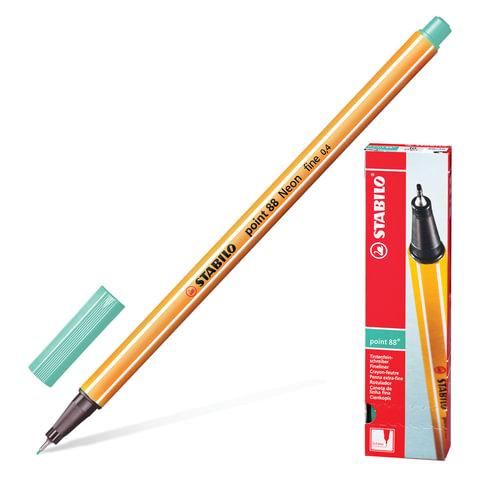"""Ручка капиллярная STABILO """"Point"""", корпус оранжевый, толщина письма 0,4 мм, зеленый лед"""