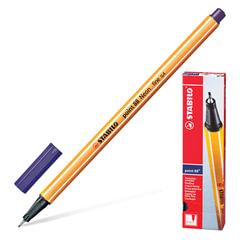 Ручка капиллярная STABILO «Point», корпус оранжевый, толщина письма 0,4 мм, берлинская лазурь