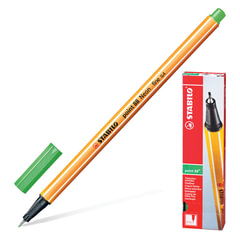Ручка капиллярная STABILO «Point», корпус оранжевый, толщина письма 0,4 мм, цвет листвы