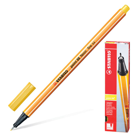 Ручка капиллярная STABILO «Point», толщина письма 0,4 мм, желтая