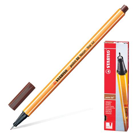 Ручка капиллярная STABILO «Point», толщина письма 0,4 мм, коричневая