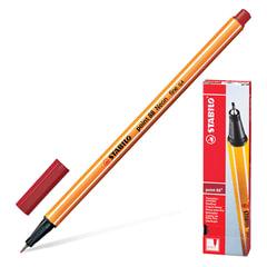 Ручка капиллярная STABILO «Point», корпус оранжевый, толщина письма 0,4 мм, темно-красная