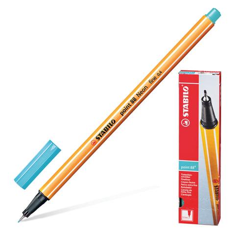 Ручка капиллярная STABILO «Point», толщина письма 0,4 мм, цвет небесная лазурь