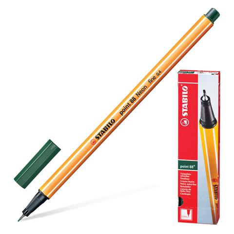 "Ручка капиллярная STABILO ""Point"", корпус оранжевый, толщина письма 0,4 мм, цвет травы"