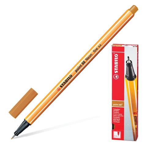 Ручка капиллярная STABILO «Point», толщина письма 0,4 мм, цвет темная охра