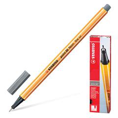 Ручка капиллярная STABILO «Point», корпус оранжевый, толщина письма 0,4 мм, темно-серая