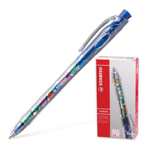 Ручка шариковая STABILO автоматическая «Tropikana», корпус ассорти, толщина письма 0,4 мм, синяя