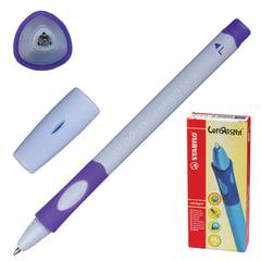Ручка шариковая STABILO «Left Right», для левшей, корпус лавандовый, узел 0,8 мм, линия 0,4 мм, синяя