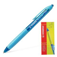 Ручка шариковая масляная автоматическая STABILO «Performer+», синие детали, узел 0,5 мм, линия 0,3 мм, синяя