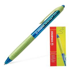 Ручка шариковая масляная автоматическая STABILO «Performer+», зеленые детали, узел 0,5 мм, линия 0,3 мм, синяя