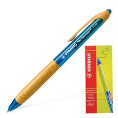 Ручка шариковая масляная автоматичеая STABILO «Performer+», оранжевые детали, узел 0,5 мм, линия 0,3 мм, синяя