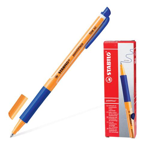 Ручка гелевая STABILO «PointVisco», корпус сине-оранжевый, толщина письма 0,5 мм, синяя