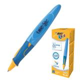 Ручка шариковая BIC «Kids Twist», для детей, корпус синий с желтым, толщина письма 0,4 мм, синяя