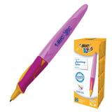 Ручка шариковая BIC «Kids Twist», для детей, корпус розовый с желтым, толщина письма 0,4 мм, синяя