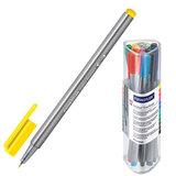Ручки капиллярные STAEDTLER (ШТЕДЛЕР, Германия), набор 12 шт., трехгранные, толщина письма 0,3 мм, цвета ассорти