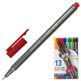 Ручки капиллярные STAEDTLER (Штедлер, Германия), набор 13 шт., трехгранные, 0,3 мм, цвета стандартные, ассорти
