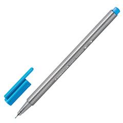 Ручка капиллярная STAEDTLER (Германия), трехгранная, толщина письма 0,3 мм, синий ультрамарин