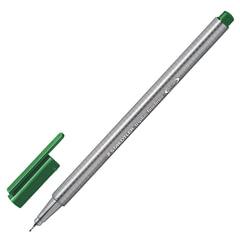 Ручка капиллярная STAEDTLER (Германия), трехгранная, толщина письма 0,3 мм, зеленая