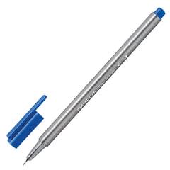 Ручка капиллярная STAEDTLER (Германия), трехгранная, толщина письма 0,3 мм, синий фаянс