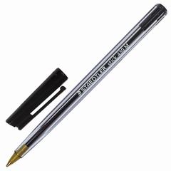 Ручка шариковая STAEDTLER (Германия) «Stick», корпус прозрачный, узел 1 мм, линия 0,35 мм, черная