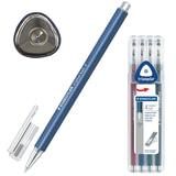 Ручки шариковые STAEDTLER (Штедлер, Германия), набор 4 шт.,«Triplus ball», трехгранные, 0,3 мм, цвета ассорти