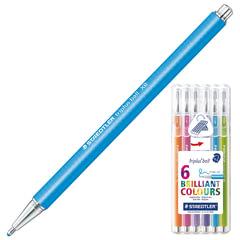 Ручки шариковые STAEDTLER, набор 6 шт., «Triplus Ball», узел 1,4 мм, линия 0,7 мм, ассорти
