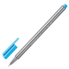 Ручка капиллярная STAEDTLER (Германия), трехгранная, толщина письма 0,3 мм, неоновая синяя