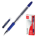 Ручка шариковая масляная CELLO «Technotip», корпус прозрачный, толщина письма 0,6 мм, резиновый держатель, синяя