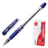 Ручка шариковая масляная CELLO «Finer», корпус прозрачный, игольчатый пишущий узел 0,3 мм, резиновый держатель, синяя