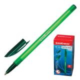 Ручка шариковая ERICH KRAUSE «R-101», корпус тонированный, игольчатый пишущий узел, 0,5 мм, зеленая