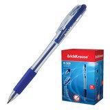 Ручка шариковая ERICH KRAUSE автоматическая «R-509», резиновый грип, корпус прозрачный, 0,35 мм, синяя