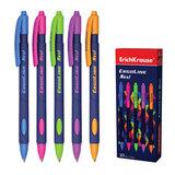 Ручка шариковая масляная ERICH KRAUSE автоматическая «Ultra Glide ErgoLine Next», корпус ассорти, 0,35 мм, синий