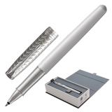 Ручка-роллер PARKER «Sonnet Lacquer CT», корпус белый лак, нержавеющая сталь, палладиевое покрытие деталей, 1931549, черная