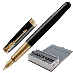 Ручка перьевая PARKER «Sonnet Lacquer GT», корпус черный лак, латунь, позолоченные детали, черная, 1931527