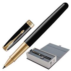 Ручка-роллер PARKER «Sonnet Lacquer GT», корпус черный лак, латунь, позолоченные детали, черная, 1948080