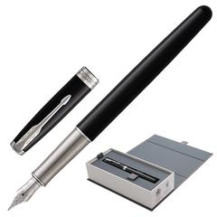 Ручка перьевая PARKER «Sonnet Lacquer CT», корпус черный лак, латунь, палладиевое покрытие деталей, 1948312, черная