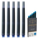 Картриджи чернильные PARKER (Германия) «Cartridge Quink», комплект 5 шт., смываемые чернила, 1950383, синие
