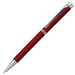 Ручка подарочная шариковая PIERRE CARDIN «Crystal», корпус красный, латунь, хром, синяя, PC0709BP