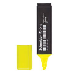 Текстмаркер SCHNEIDER (Германия) «One», скошенный наконечник 1-5 мм, желтый