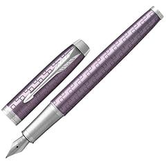 Ручка подарочная перьевая PARKER «IM Premium Dark Violet CT», фиолетовый корпус с гравировкой, хром, синяя, 1931636