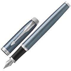 Ручка подарочная перьевая PARKER «IM Core Light Blue Grey CT», серо-голубой лак, хромированные детали, синяя, 1931648