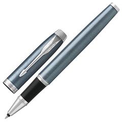 Ручка-роллер PARKER «IM Core Light Blue Grey CT», серо-голубая, лак с круговой полировкой, хромированные детали, черная, 1931662