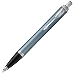 Ручка шариковая PARKER «IM Core Light Blue Grey CT», серо-голубой лак с круговой полировкой, хром, синяя, 1931669