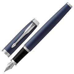 Ручка перьевая PARKER «IM Core Matte Blue CT», темно-синий матовый лак, латунь, хром, синяя, 1931647