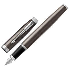 Ручка подарочная перьевая PARKER «IM Core Dark Espresso CT», лак кофейного цвета, хромированные детали, синяя, 1931650